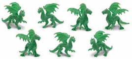 Dollhouse Miniature Micro-Mini Green Dragon, 12pc