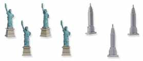 Dollhouse Miniature Micro-Mini NY Skyline, 12pc