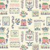 Dollhouse Miniature Wallpaper, Mini Sampler, Green (Pink)