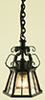 Dollhouse Miniature Ornate Hanging Iron Lamp