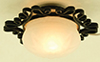 Dollhouse Miniature Ornate Ceiling Light, Large