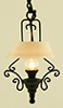 Dollhouse Miniature Ornate Hanging Kitchen Lamp