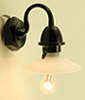 Dollhouse Miniature Outdoor Security Light 12V Bipin Pea Black