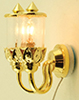Dollhouse Miniature Double Ornate Coach Wall Lamp 12V