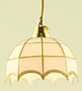 Dollhouse Miniature Tiffany Hanging Lamp, White