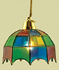 Dollhouse Miniature Tiffany Hanging Lamp, Colored