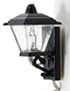 Dollhouse Miniature Black Coach Lamp, 3 Volt