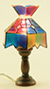 Dollhouse Miniature Assorted Tiffany Table Lamps, 2/Pk