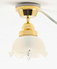 Dollhouse Miniature Ceiling Lamp, Large Tulip