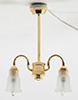 Dollhouse Miniature Chandelier, 2-Arm