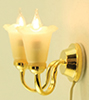 Dollhouse Miniature Wall Sconce, 2 Tulip
