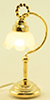 Dollhouse Miniature Fluted Shade Desk Lamp