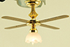 Dollhouse Miniature 1-Tulip Ceiling Fan