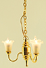 Dollhouse Miniature Chandelier, 3-Lt Tulip