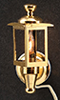 Dollhouse Miniature Brass Coach Lamps, 2/Pk