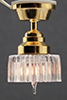 Dollhouse Miniature Ceiling Lamp, Scalloped Shade