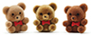 Dollhouse Miniature Bears 1In 3Pcs, Flocked