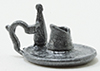 Dollhouse Miniature Candleholder-Pewter