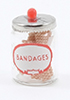 Dollhouse Miniature Bandages In Jar