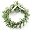 Dollhouse Miniature Wreath with Gold Bows