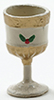 Dollhouse Miniature Christmas Goblet with Holly