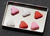 Dollhouse Miniature Heart Cookies On Baking Sheet