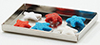 Dollhouse Miniature Red White and Blue Cookies On Baking Sheet
