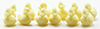 Dollhouse Miniature Ducks, Yellow, 12 Pcs